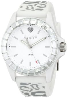 Women s watches  Crystal watches for women Juicy Couture Women s 1901135  Juicy Sport Analog Display Quartz White Watch bc67f032377d