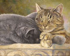 """""""The Nap"""", oil on canvas, 8"""" X 10"""", by Lucie Bilodeau.  Available as prints."""