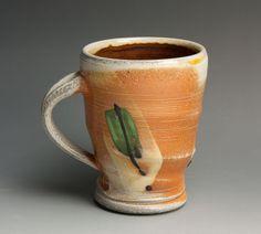 Coffee mug or tea cup - soda fired white stoneware