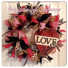 Do you LOVE Valentine's Day? This is the perfect door ornament to celebrate the month of LOVE! Don't hesitate to purchase this one as it will sale fast! Head to my Etsy shop now!  https://www.etsy.com/listing/217778794/valentines-day-wreath-burlap-valentine
