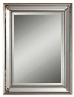 Dazzling Silver Leaf Wall Mirror >>> More info could be found at the image url. (This is an affiliate link) #Mirrors