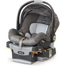 Chicco KeyFit 30 Infant Carseat - We've heard Chicco makes the safest carseat around, with extra insulation inside, and it pops right in and out of the base in the car, making it super easy to use. We love this.