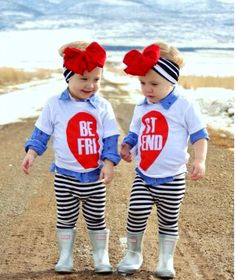BFF Best Friends Forever Black or Red Heart Solid White Tee /Red Baseball Tshirt Baby Toddler or Adult Clothing, Siblings Twins Photo Shoot
