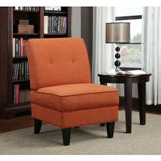 Portfolio Engle Orange Linen Armless Chair - http://www.overstock.com/Home-Garden/Portfolio-Engle-Orange-Linen-Armless-Chair/8441103/product.html?refccid=POEY7UGZIB4YCHKDAFMZ7RMVPU&searchidx=529