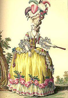 Au XVIIIeme siècle sous le règne de Louis XVI, deux élégantes exercent une influence majeure sur l'Europe entière : la reine Marie-Antoinette et sa marchande de modes Rose Bertin.  Cette période est riche par le nombre et la variété des robes créées.  La mode avait en ce siècle une influence forte sur les Français, et elle reflétait aussi bien la richesse et la classe sociale que les attitudes sociales et politiques ainsi que les arts.