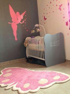 décoration chambre bebe fille rose et gris | chambre bébé | Pinterest