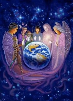 Sister's of light healing the planet with the cosmic violet ray