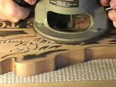#21 Video  How to Carve Wood Signs - Part 4 of 7 Live to Ride
