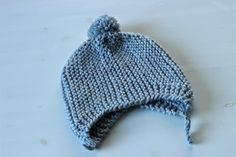 Arkinen.: Hile-myssy (+ohje) Knitting For Kids, Handicraft, Knitted Hats, Winter Hats, Beanie, Baby, Fashion, Craft, Moda
