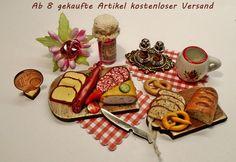 Brotzeit,deftiges Frühstück oder Vesper für Rauchfangküche,Puppenstube 1:12 in Antiquitäten & Kunst, Antikspielzeug, Puppen & Zubehör   eBay