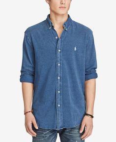 Polo Ralph Lauren Men's Featherweight Cotton Mesh Shirt, Only at Macy's