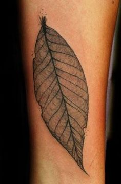 leaf #ink #tattoo