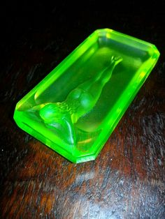 Ashtray- Uranium vaseline glass