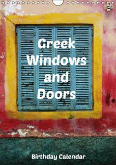 Greek Windows and Doors Birthday Calendar by JUSTART on Calvendo