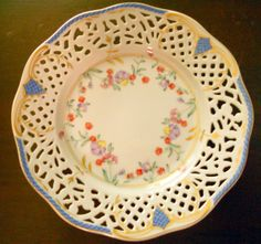Vintage Delicate 7 1/2 Lattice Plate from Oscar de by ALABAMANANA, $12.99