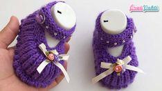 Şişle Boncuk Süslemeli Bebek Patiği Yapılışı #moda #hobi #hobby #elişi #kadın #orgu #knitting Crochet Baby Shoes, Crochet Slippers, Crochet Baby Sweaters, Baby Knitting, Baby Girl Patterns, Baby Pullover, Crochet Tablecloth, Baby Booties, Fingerless Gloves