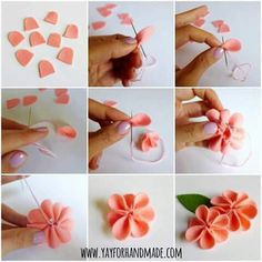 Steps Of Making Crafts – Amazinghandicrafts with regard to How To Make Handmade Flowers From Paper And Fabric 27321 Felt Flowers, Diy Flowers, Fabric Flowers, Paper Flowers, Rose Flowers, Flowers Decoration, Flower Petals, Felt Diy, Felt Crafts