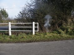 Sebald, a firework was lit by the side of the in Framingham Pigot, the place in which he was killed in a car crash on 14 December Car Crash, Fireworks, Country Roads, Places, December, Lugares