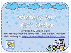FREE differentiated alphabetical order activities with wnter vocabulary