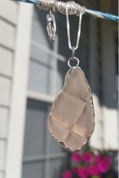 Pink Sea Glass Pendant Sea Glass Jewelry by ElaSeaGlassJewelry