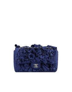 82f49bec5411 Neoprene flap bag embroidered with... - CHANEL Spring-summer 2015 Chanel  Handbags