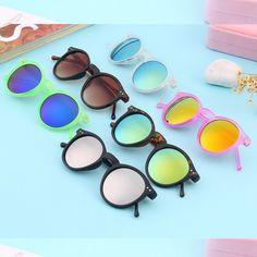 Barato Popular Mais Recente Retro Unisex Espelho lente Rodada Óculos de Sol  do punk do Vapor 57094fc427