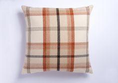 Cuthbert and Black Large Highland Mist Tartan X Cushion Cover In Terracotta Orange Cushion Covers, Orange Cushions, Throw Pillow Covers, Throw Pillows, Mists, Tartan, Rustic, Living Room, Bed