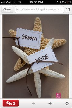 Cute!! If you have assigned seating you can make these for everyone or it's you two. Also cute wedding favors.