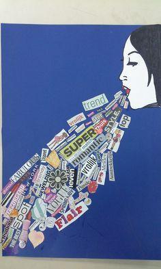 Kreativ: Pop Art im Klassenzimmer Brein Collage Kunst, Collage Art, Fashion Illustration Collage, Illustration Art, Comic Kunst, Round Robin, Newspaper Art, Ecole Art, Art Curriculum