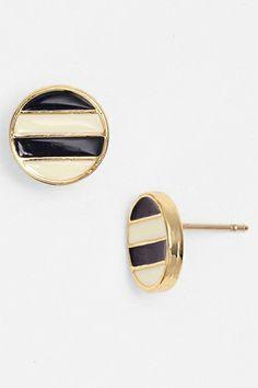 Kate Spade Spot The Shore Enamel Stripe Stud Earrings, $48, available at Nordstrom.