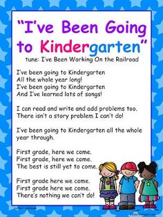 Kindergarten graduation program template graduation end of year song ive been going to kindergarten tune ive been working on the railroad free from freebielicious maxwellsz