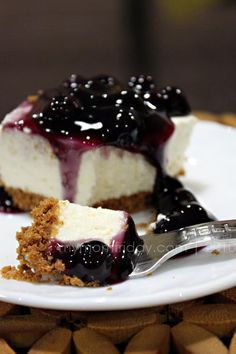 No bake Blueberry cheesecake: Grease13x9pan, Mix 2 cups graham cracker crumbs 1/3 c sugar ,1 tsp cinnamon ,1/2 c melted butter press into bottom of pan, Beat 16 ounces cream cheese ,1 c powdered sugar with mixer on med-high until creamy, fold in 16 ounces Cool Whip, Pour over crust cover 1-2  hrs,spoon on 21 ounce can of  blueberry pie filling cover 6-24 hrs