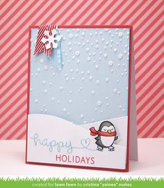 Winter Penguin - Lawn fawn <3