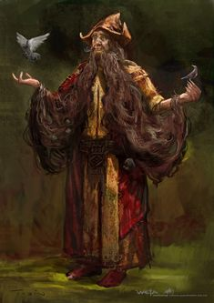 Radagast The Brown Art Concept, by Paul Tobin for The Hobbit movies.