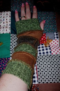 Upcycled  handwarmers made from recycled by FarmFeatheredCharms, $20.00