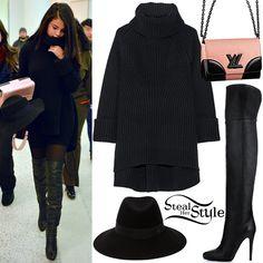 Selena Gomez arriving at JFK Airport in New York. January 20th, 2016 - photo: PacificCoastNews