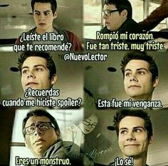 Read Venganza from the story Chistes literarios by ReynaAres (♡𝕒𝕣𝕖𝕤♡) with 469 reads. Teen Wolf Memes, I Love Books, Books To Read, Radio Rebel, Fandom Jokes, Le Book, Book Memes, Book Fandoms, Hush Hush