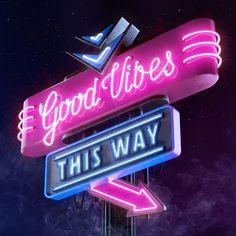 Good Vibes! #cgi #3D #neon #neontype https://www.instagram.com/p/BVSXWJZl6mQ/?taken-by=weareforeal
