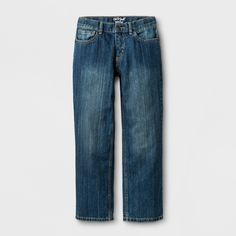 0deffe5d5e3 Boys  Relaxed Medium Wash Straight Jeans - Cat   Jack Blue 8
