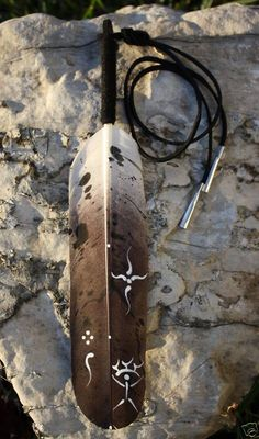 Native American Regalia Eagle Feather Hair Tie Cherokee