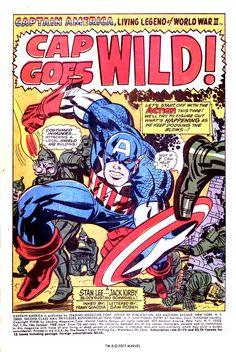 Captain America #106 Splash Page by Jack Kirby