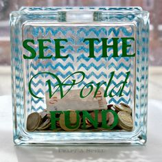 Craft A Spell: Stenciled Travel Fund Bank and Mod Podge Rocks Giveaway!