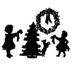 diy silhouette christmas