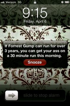 """""""I just felt like running"""" - Forrest Gump . I just told my running partner that I wanted a Forrest Gump poster on my wall to motivate me! Fitness Motivation, Running Motivation, Monday Motivation, Running Quotes, Funny Motivation, Exercise Motivation, Fitness Quotes, Exercise Schedule, Running Humor"""