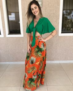 Estampados hawaianos Summer Fashion Outfits, Fall Outfits, Casual Outfits, Cute Outfits, Tropical Outfit, Casual Looks, Beachwear, Ideias Fashion, Summer Dresses