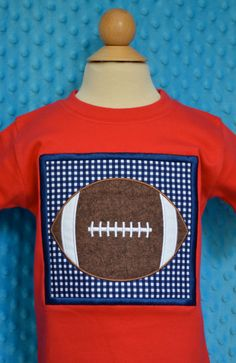 Personalized Football Patch Applique Shirt or Onesie on Etsy, $25.00