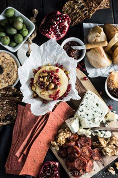 Pomegranate Baked Brie Cheese Board