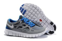 Cheap Nike Free Run 2 Women Shoes Gray Black Blue UK Online Nike Free 3 63e81aa2f