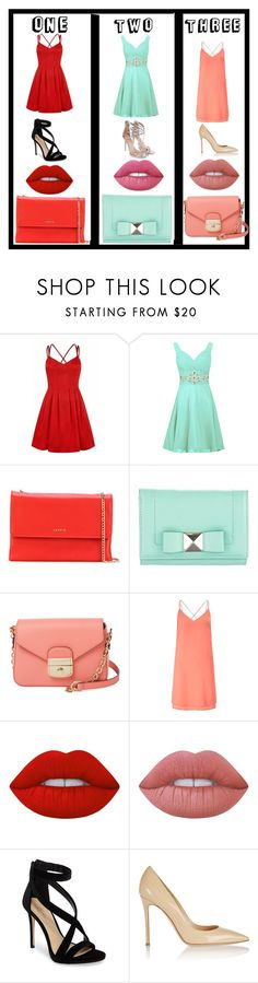 """""""Do you like one? Two? Or Three?"""" by carlye2006 ❤ liked on Polyvore featuring Lanvin, Kate Spade, Longchamp, Miss Selfridge, Lime Crime, Imagine by Vince Camuto, Gianvito Rossi, men's fashion and menswear"""
