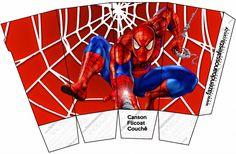 Caja para palomitas de maíz de Spiderman para imprimir